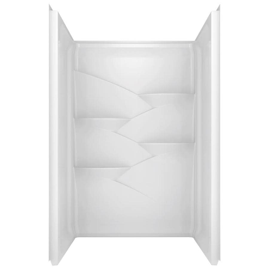 Delta Laurel High Gloss White Shower Wall Surround Side and Back Walls (Common: 48-in x 34-in; Actual: 74-in x 47.875-in x 34-in)