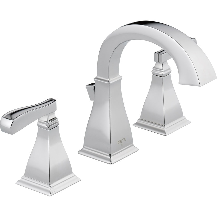 delta olmsted spotshield brushed nickel 2 handle widespread watersense bathroom faucet drain included - Bathroom Faucets Lowes