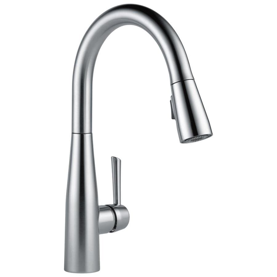 Delta Essa Arctic Stainless 1-Handle Deck Mount Pull-Down Kitchen Faucet