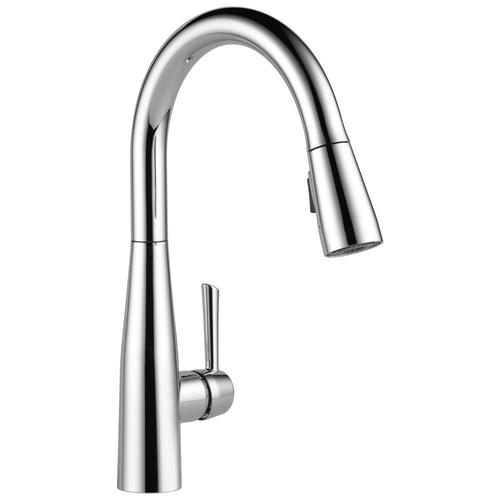Essa Chrome 1-Handle Deck Mount Pull-down Residential Kitchen Faucet