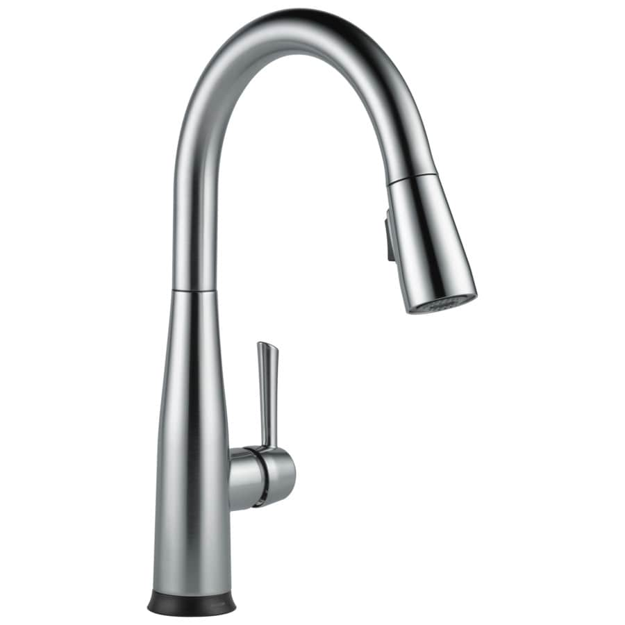 down bn nickel kitchen faucets brushed pull handle faucet sprayer coiled p in single