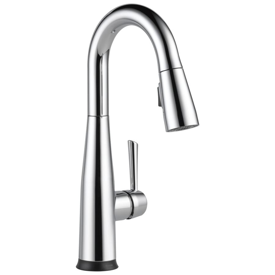 Delta Essa Chrome 1-Handle Deck Mount Pull-Down Touch Bar and Prep Faucet