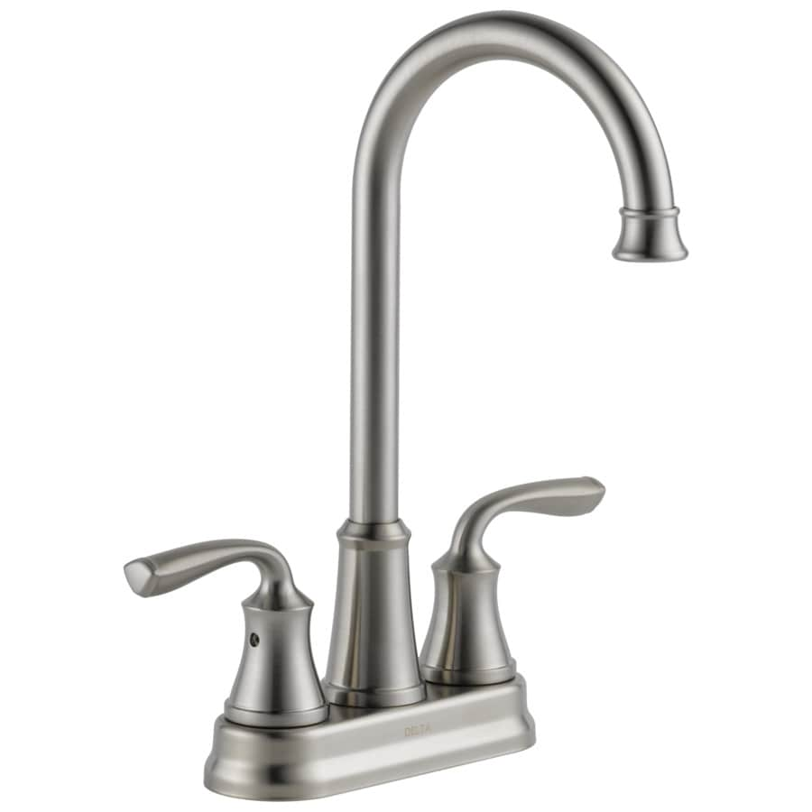 Shop Delta Lorain Stainless 2-Handle Bar and Prep Faucet at Lowes.com