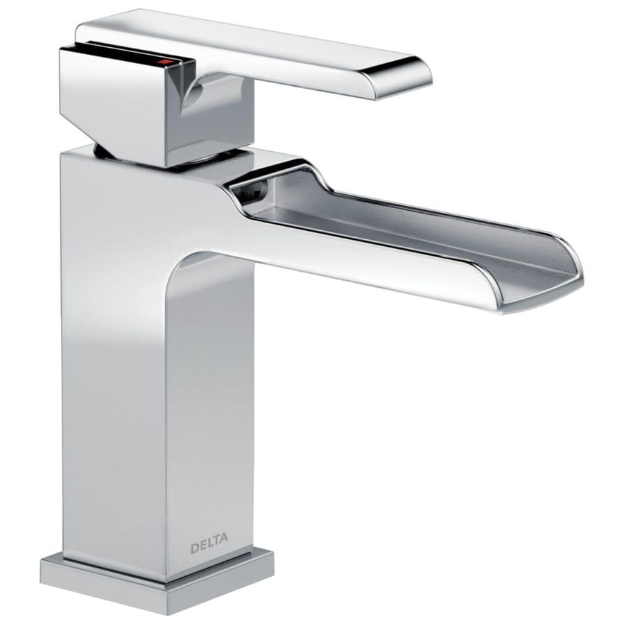 Delta Ara Chrome 1-handle 4-in Centerset Bathroom Sink Faucet
