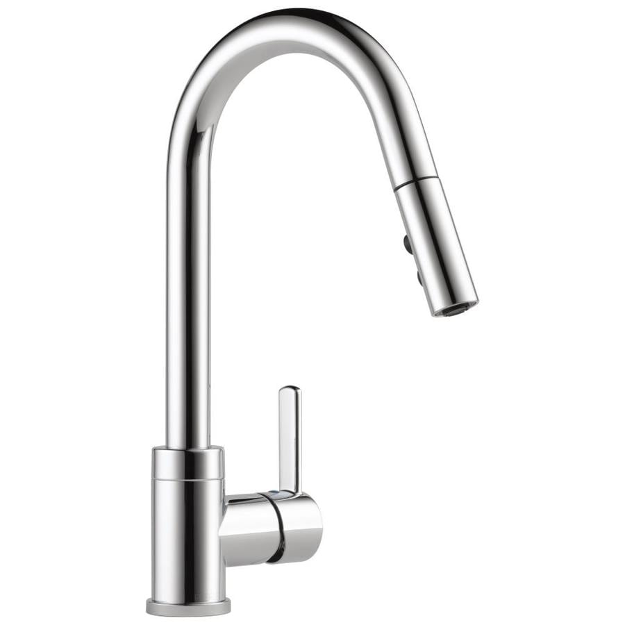 Peerless Apex Chrome 1-Handle Deck Mount Pull-Down Kitchen Faucet