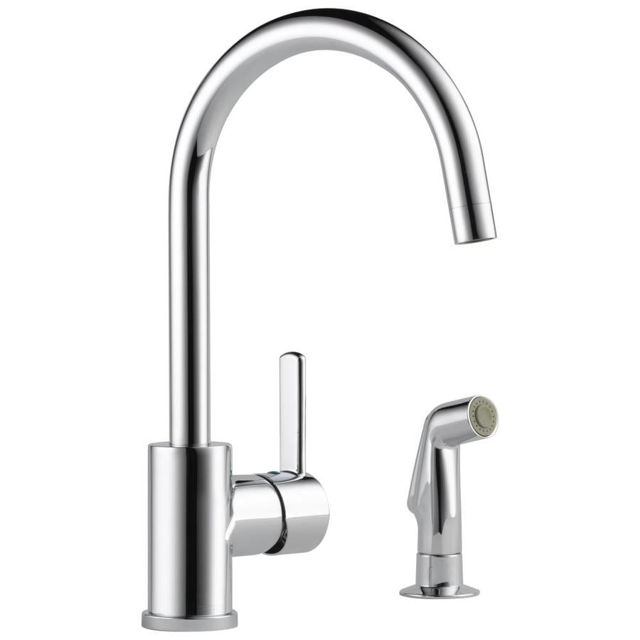 Peerless Apex Chrome 1-handle Deck Mount High-Arc Kitchen Faucet