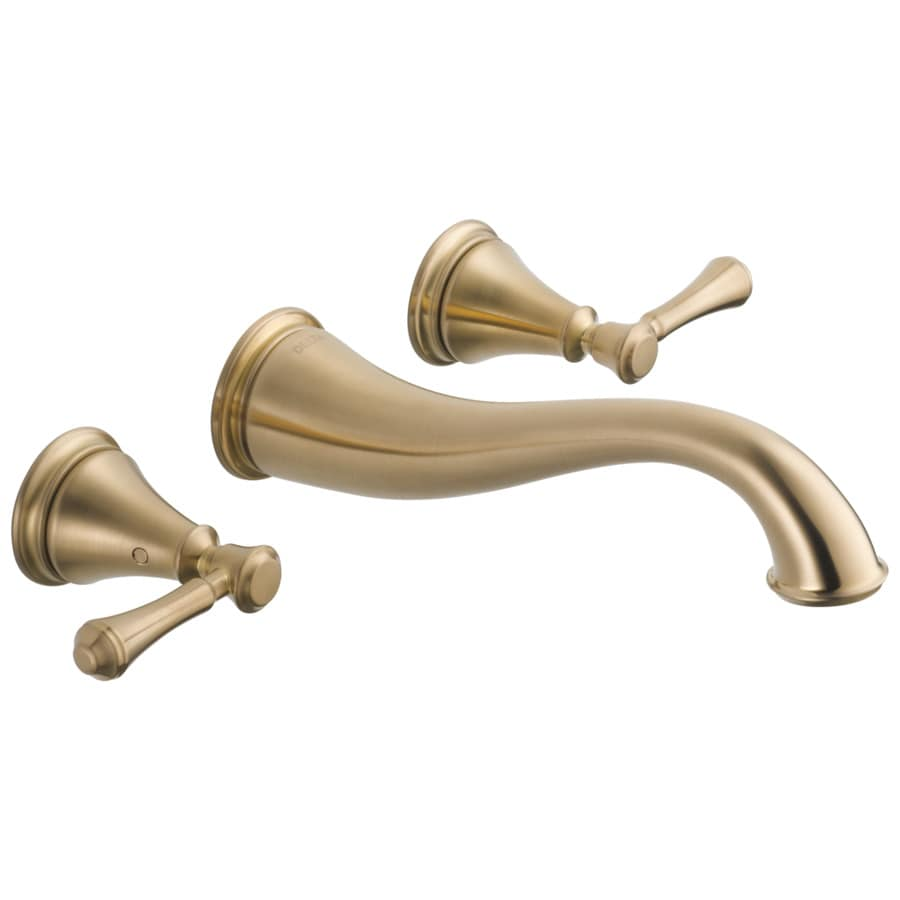 Delta Cassidy Champagne Bronze 2-Handle 4-in Centerset WaterSense Bathroom Faucet