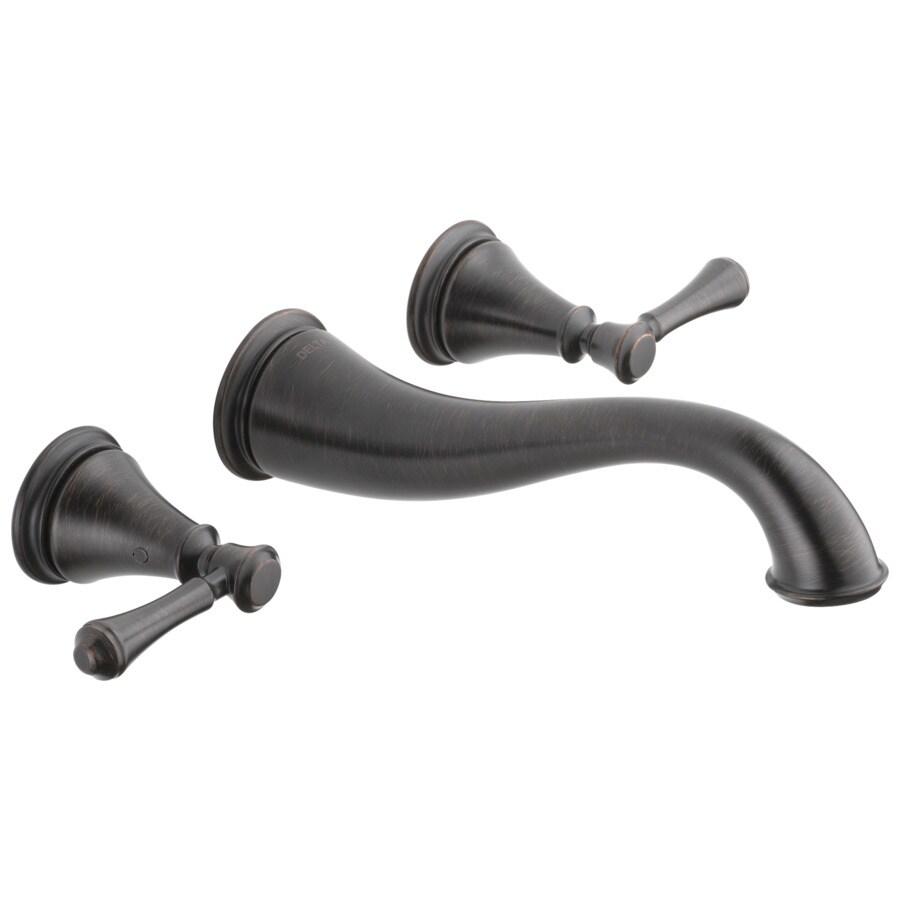 Delta Cassidy Venetian Bronze 2-Handle 4-in Centerset WaterSense Bathroom Faucet