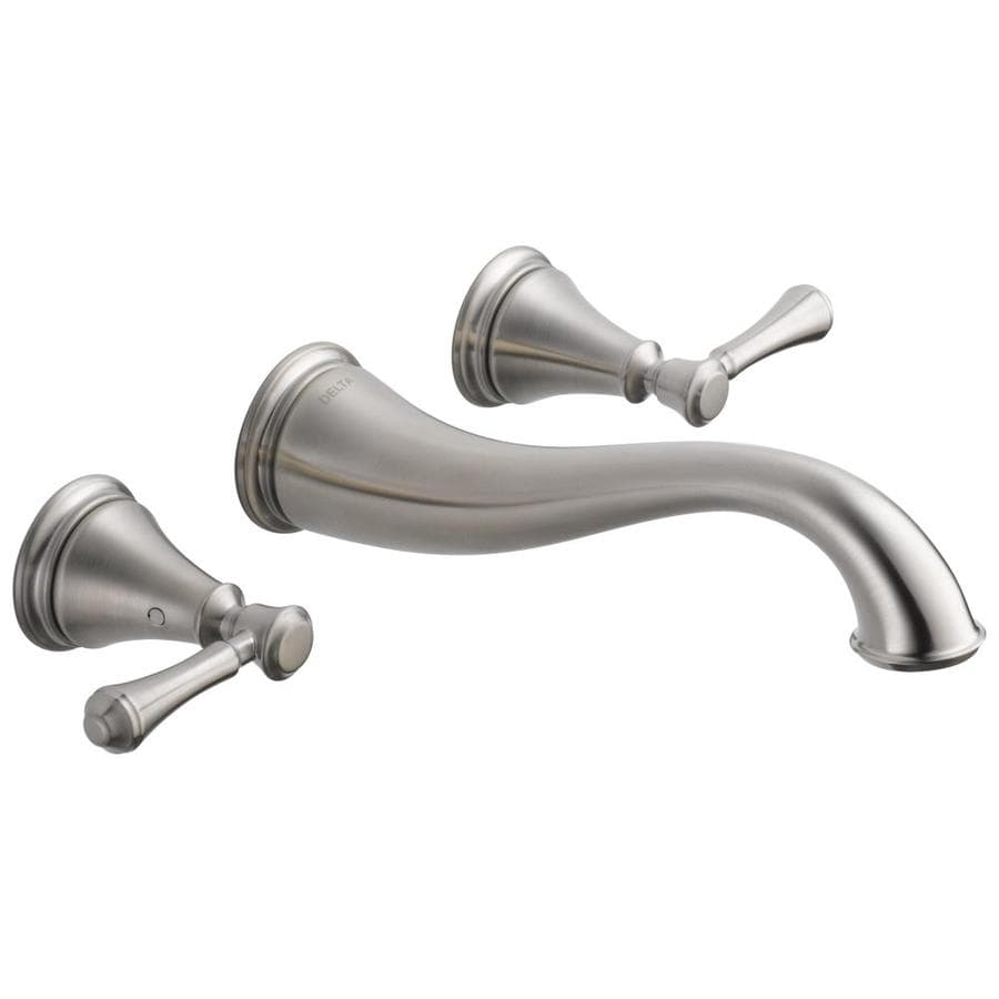 Delta Cassidy Stainless 2-Handle 4-in Centerset WaterSense Bathroom Faucet