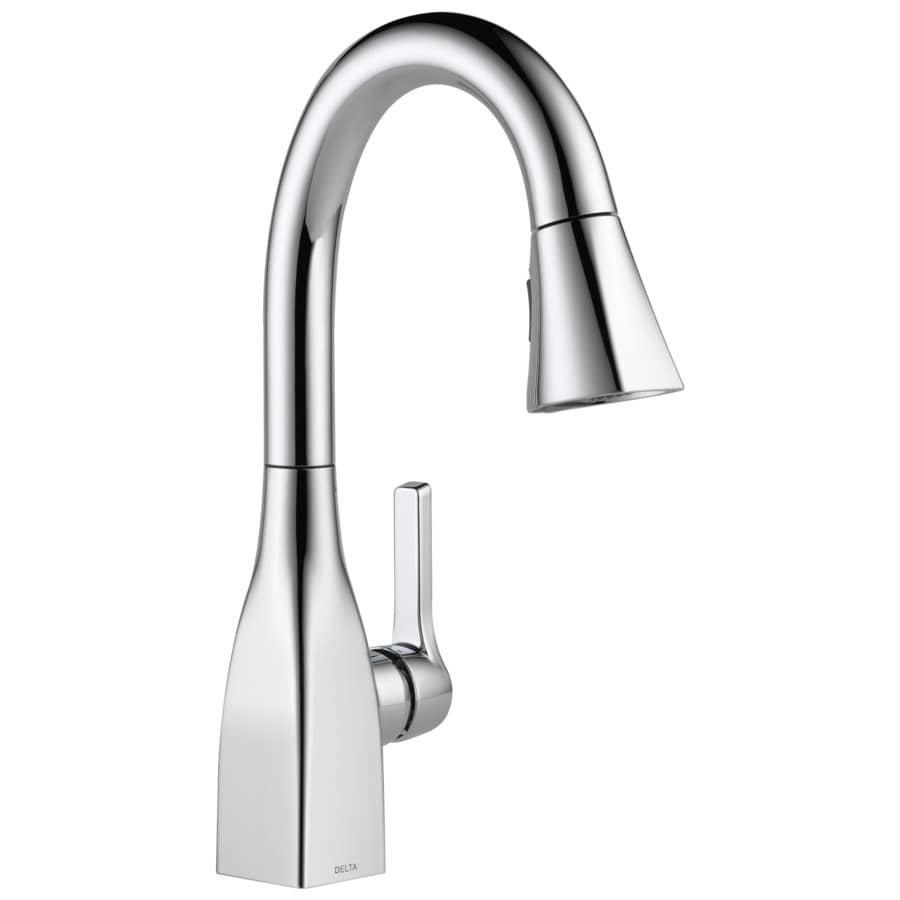 shop delta mateo chrome 1 handle kitchen faucet at lowes com