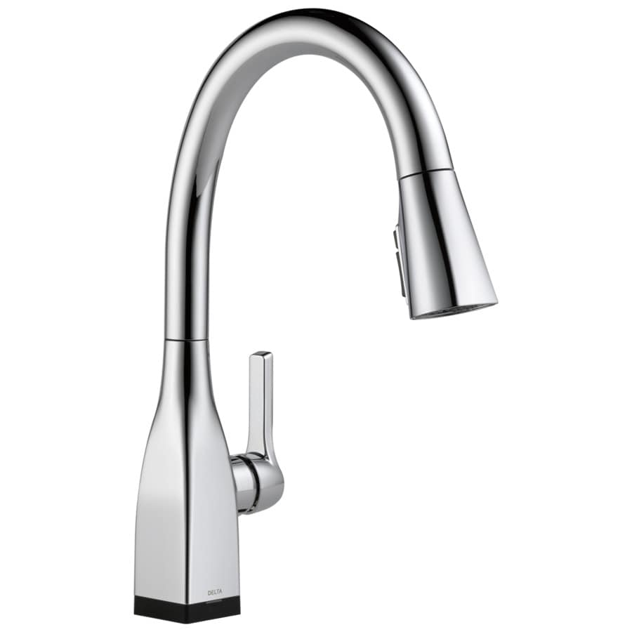 shop delta mateo touch2o chrome 1 handle pull down touch