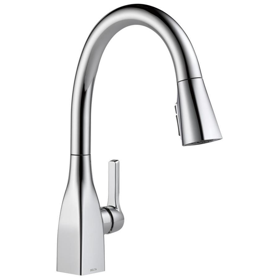 Delta Mateo Chrome 1-handle Deck Mount Pull-down Kitchen Faucet