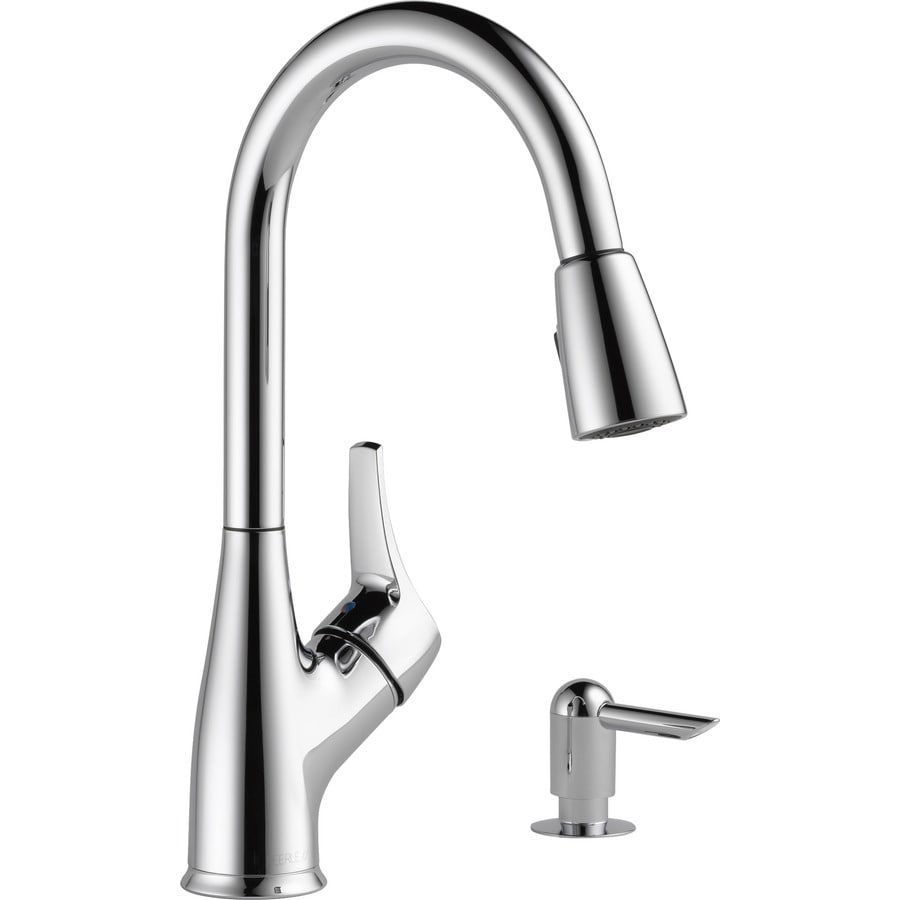 Good Peerless Pull Down Kitchen Faucet #8: Peerless Choice Chrome 1-Handle Pull-Down Kitchen Faucet