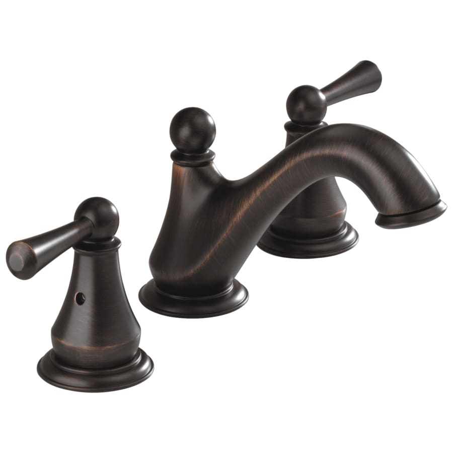 Delta Haywood Venetian Bronze 2-Handle 4-in Centerset WaterSense Bathroom Faucet (Drain Included)