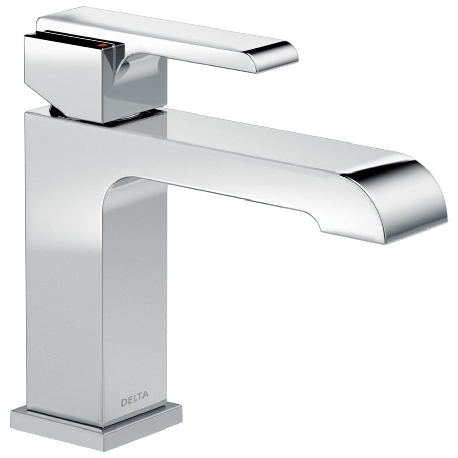 Delta Ara Chrome 1-Handle 4-in Centerset Bathroom Faucet (Drain Included)