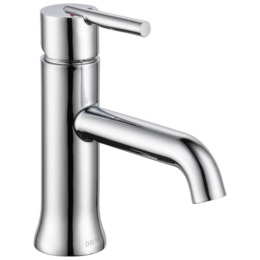 Delta Trinsic Chrome 1-Handle 4-in Centerset Bathroom Faucet (Drain Included)