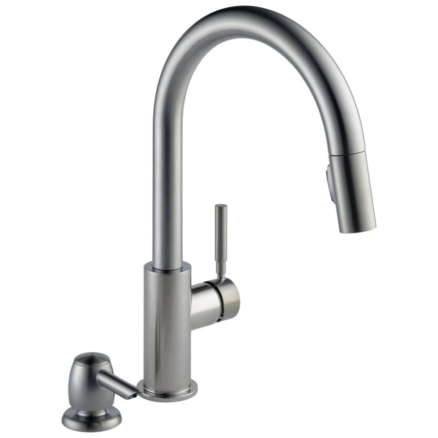 Lowes Delta Kitchen Faucets Shop Delta Trask Spotshield Stainless 1 Handle Pull Down Kitchen