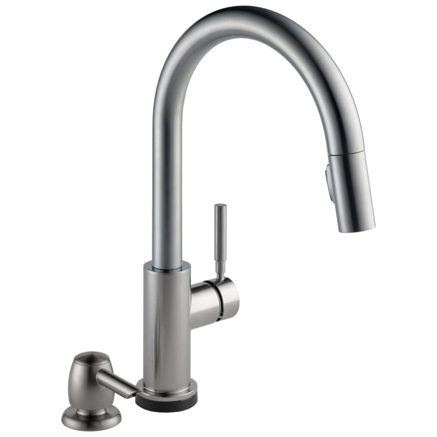 Delta Trask Touch2o Spotshield Stainless 1 Handle Deck Mount Pull Down Touch Kitchen Faucet