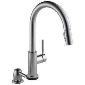 Delta Trask 19933T-SPSD-DST 1-Handle Touch2O Kitchen Faucet, Stainless Finish