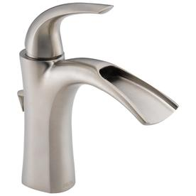 Delta Nyla Stainless 1 Handle Single Hole/4 In Centerset Bathroom Sink  Faucet