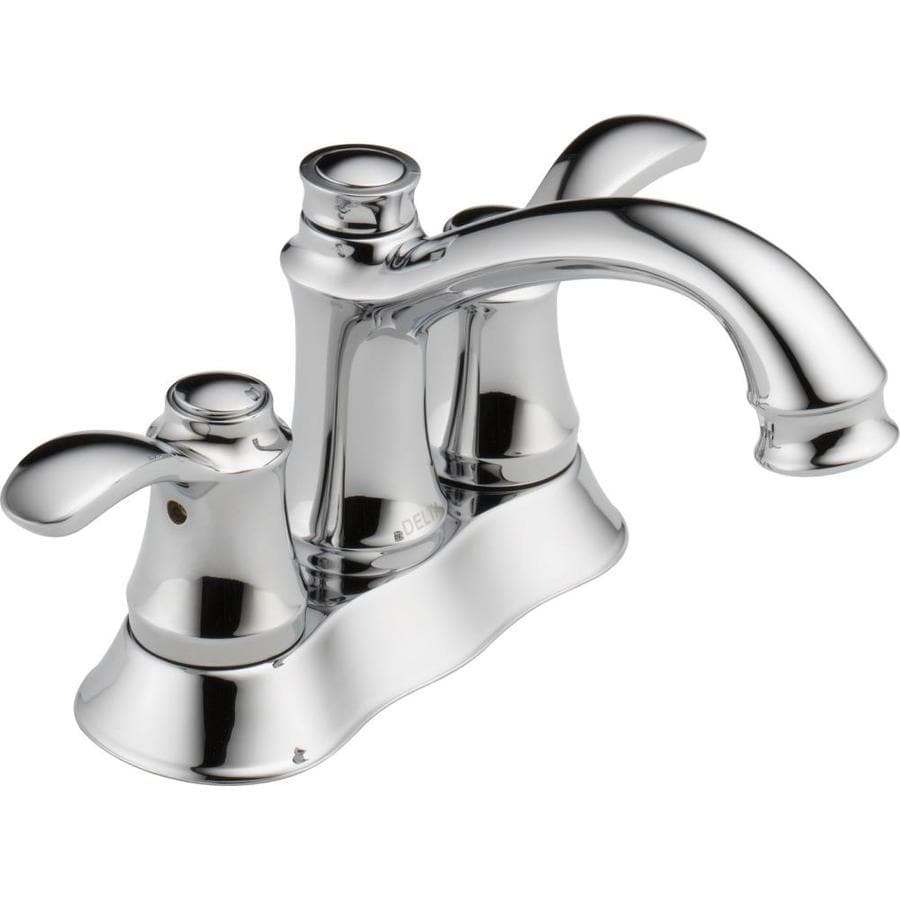Shop Delta Nura Chrome 2 Handle 4 In Centerset Watersense Bathroom Faucet Drain Included At