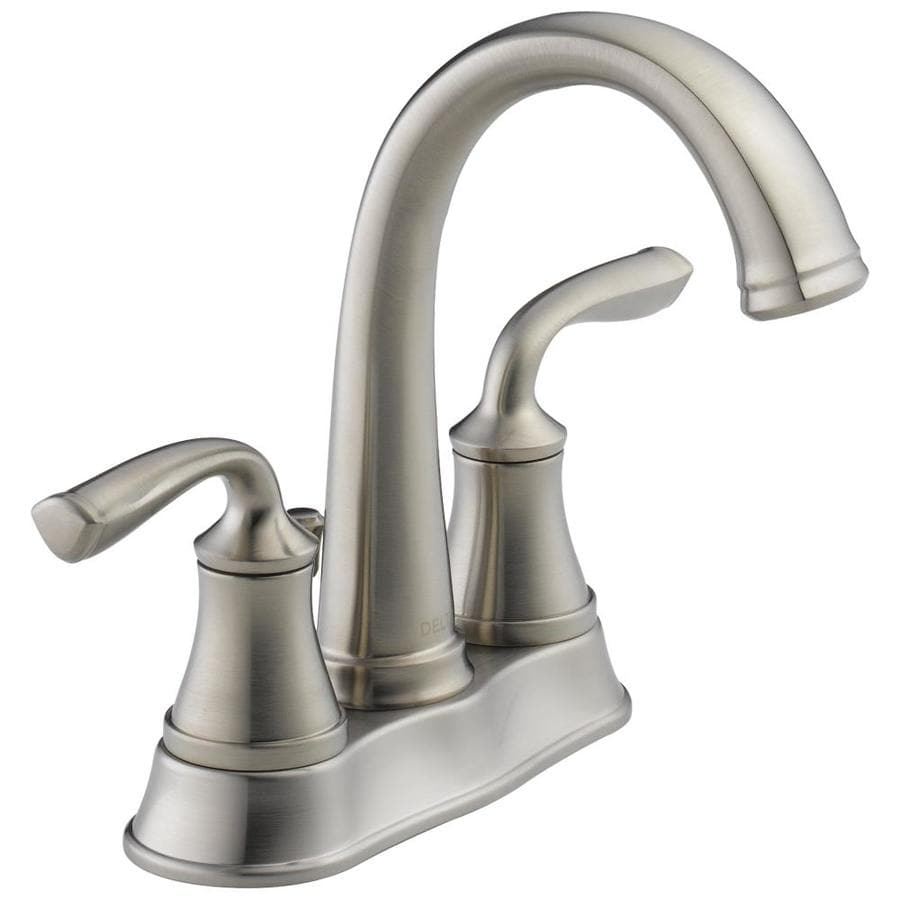bathroom facuets lorain stainless  handle  in centerset watersense bathroom faucet drain included