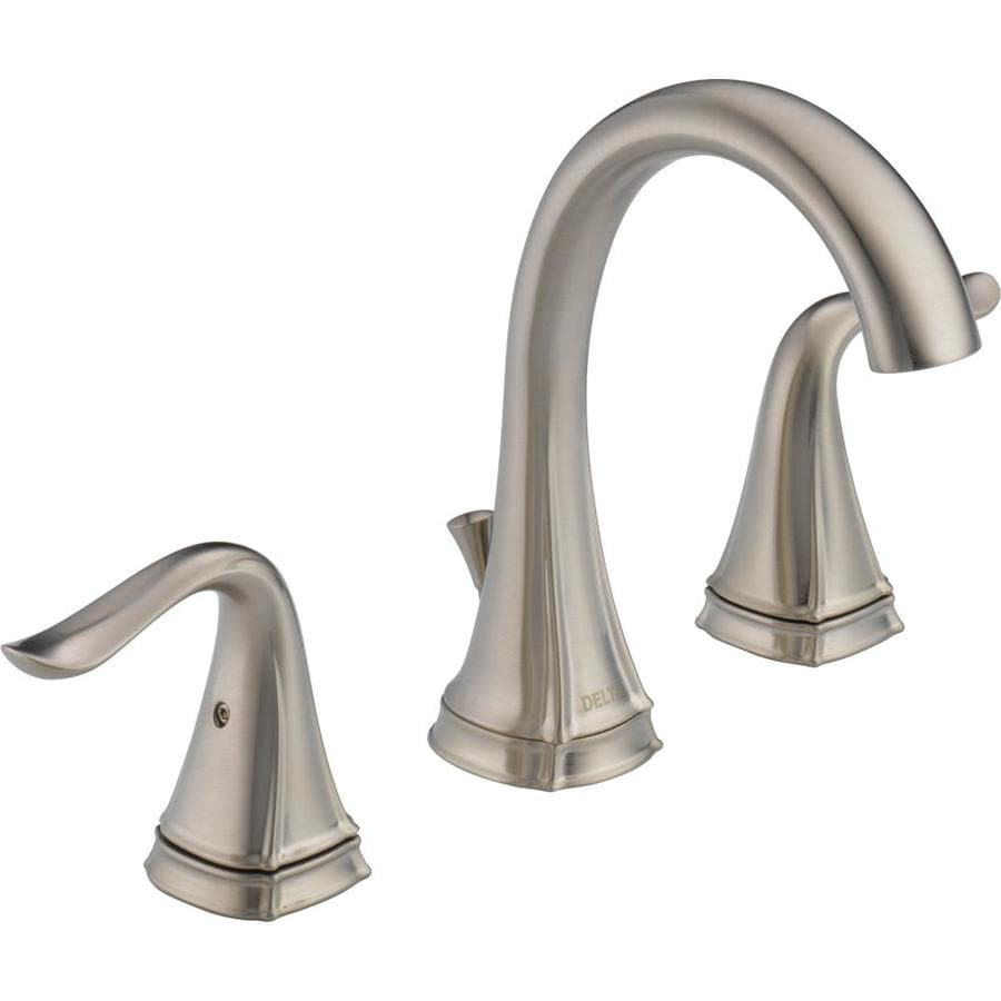 Delta Celice Stainless 2-Handle Widespread WaterSense Bathroom Faucet Drain Included