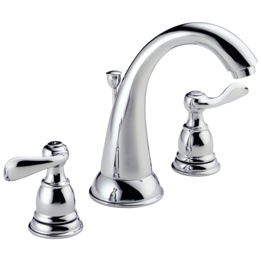 Delta Windemere Chrome 2-Handle Widespread Bathroom Sink Faucet