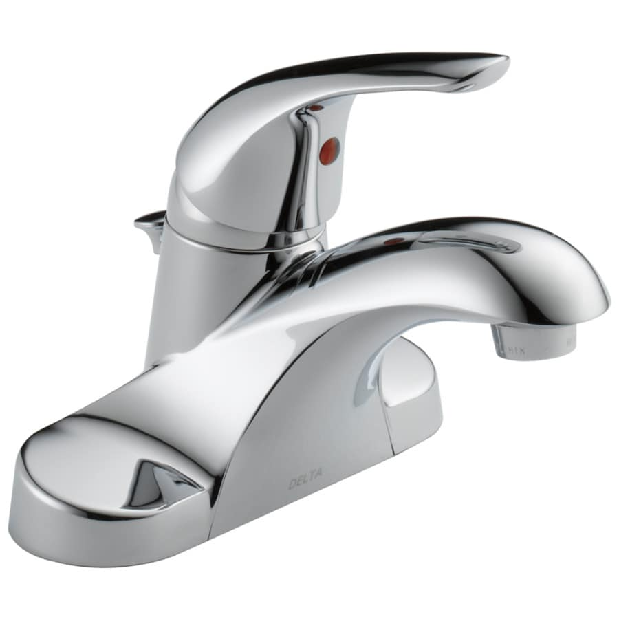 Delta Chrome 1 Handle 4 In Centerset Bathroom Sink Faucet