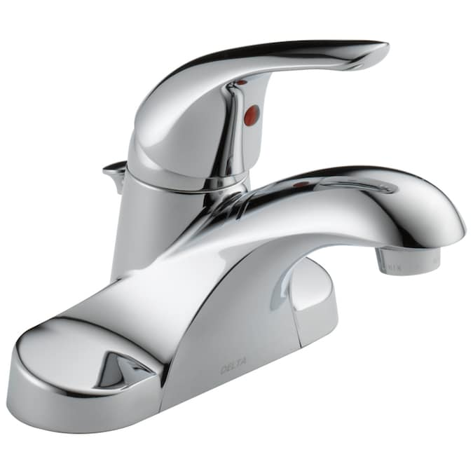 Delta Foundations Chrome 1 Handle 4 In