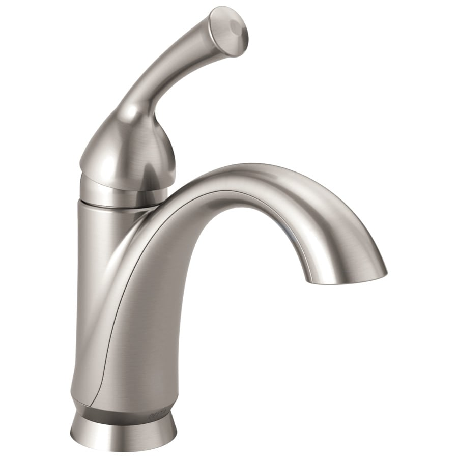 Bathroom Faucets Delta shop delta haywood stainless 1-handle 4-in centerset watersense