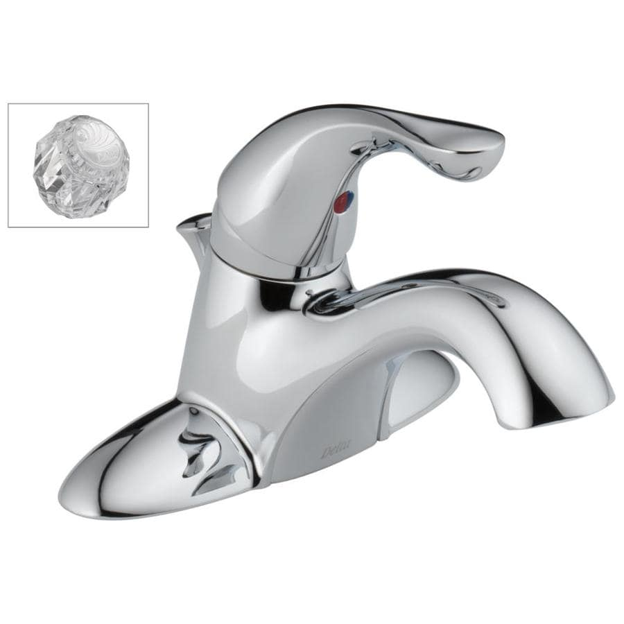 Shop Delta Classic Chrome 1-Handle 4-in Centerset WaterSense ...