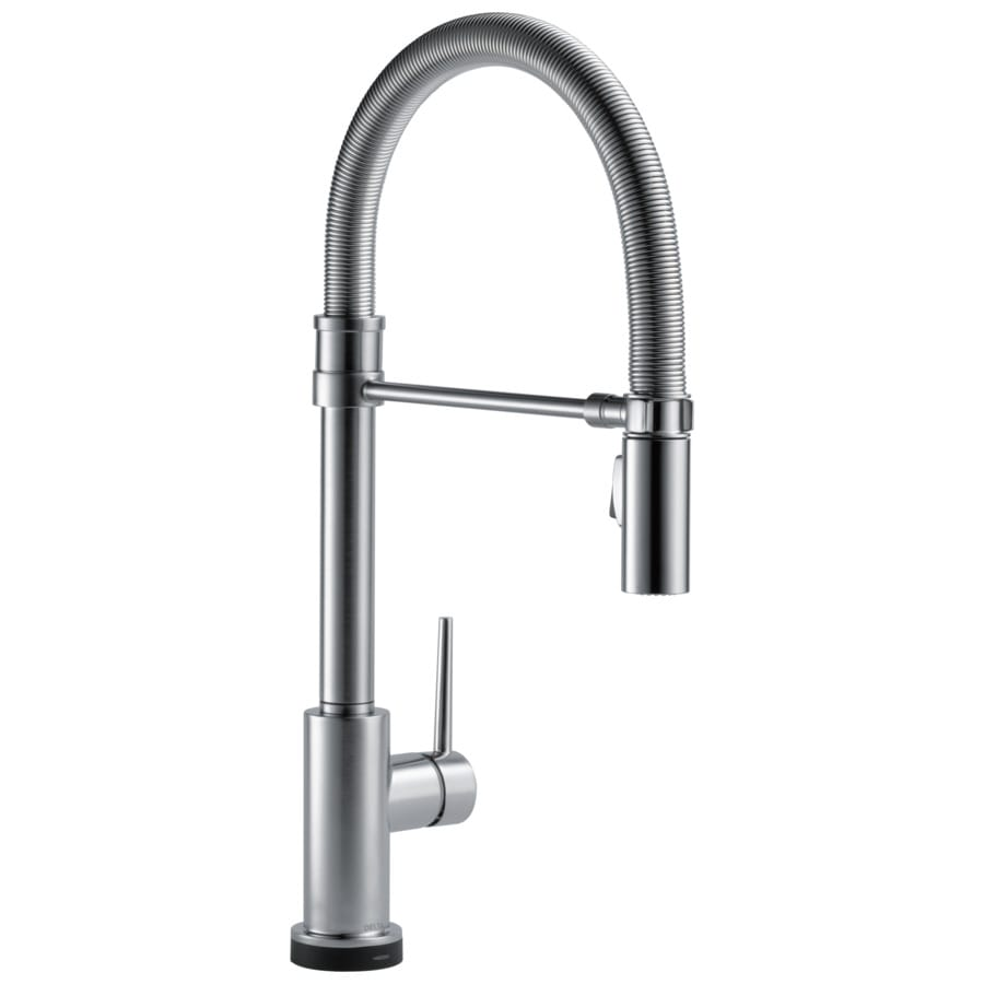 shop delta trinsic pro arctic stainless 1 handle pull down kitchen touch faucet brizo