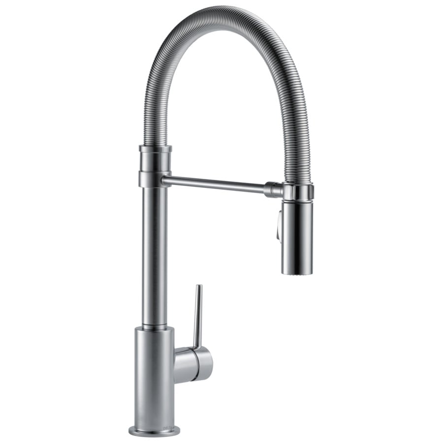 Shop Delta Trinsic Pro Arctic Stainless 1-Handle Pull-Down Kitchen ...