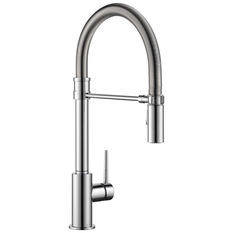 Delta Trinsic Pro Chrome 1-Handle Deck Mount Pull-down Kitchen Faucet
