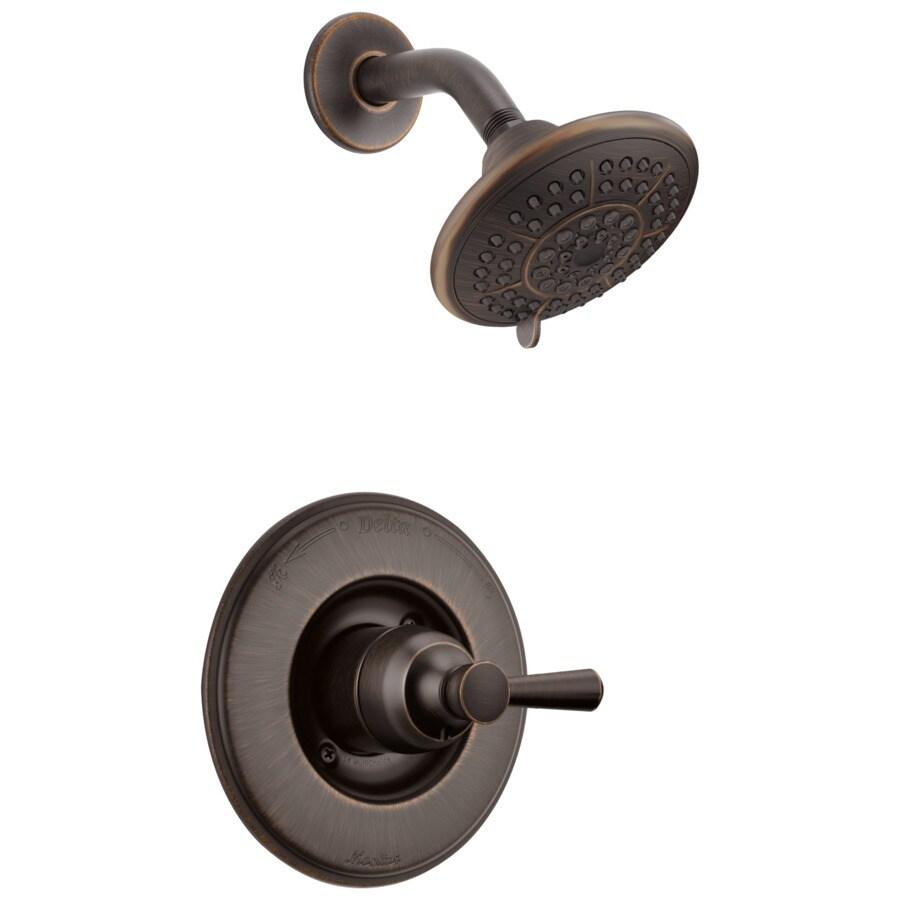 Shop Delta Linden Venetian Bronze 1 Handle Watersense Bathtub And Shower Faucet With Multi