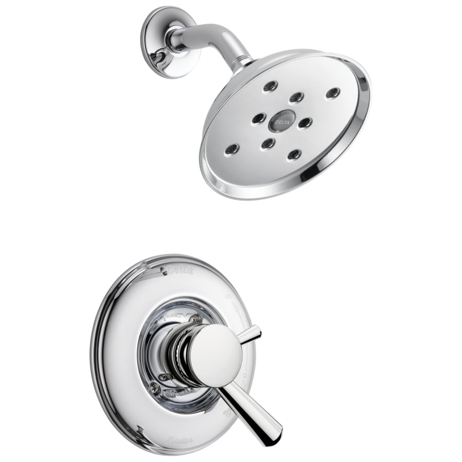 Delta Linden Chrome 1-Handle WaterSense Bathtub and Shower Faucet with Multi-Function Showerhead
