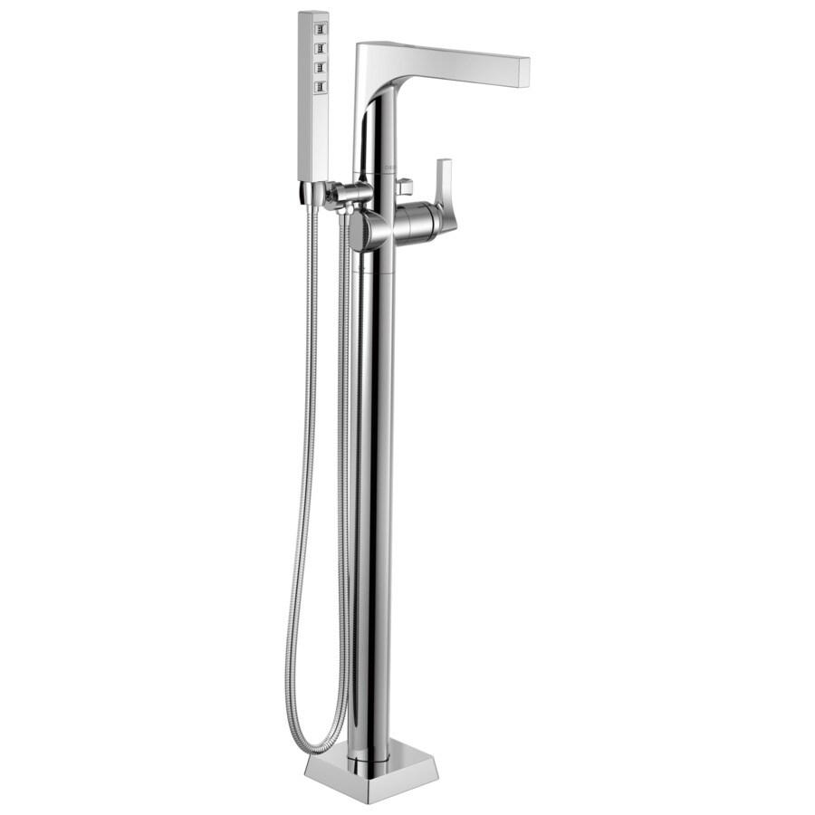 Delta Zura Chrome 1-Handle Freestanding Bathtub Faucet