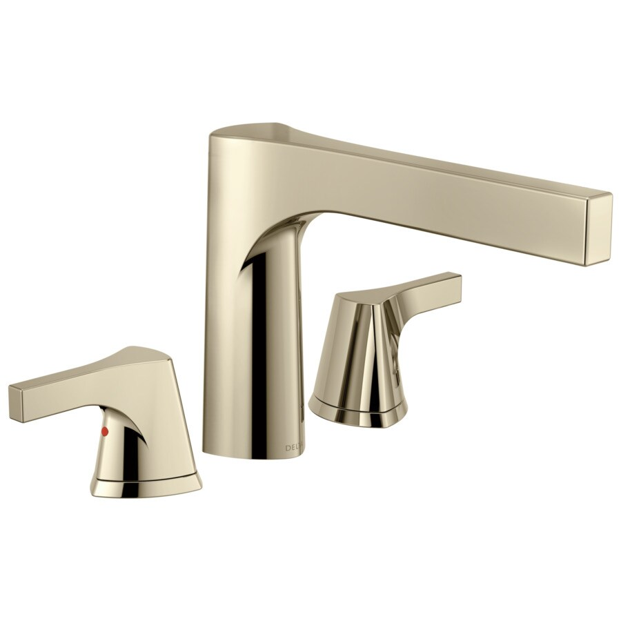 Delta Zura Polished Nickel 2-Handle Deck Mount Bathtub Faucet