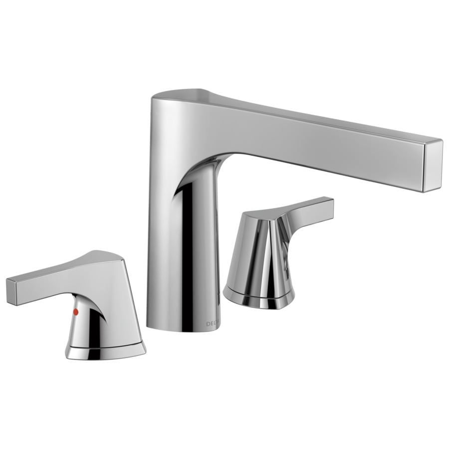 Delta Zura Chrome 2-Handle Deck Mount Bathtub Faucet