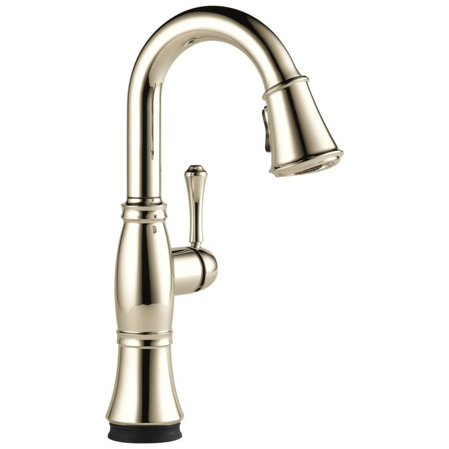 Delta Cassidy Polished Nickel 1-Handle Handle(S) Included Bar and Prep Faucet