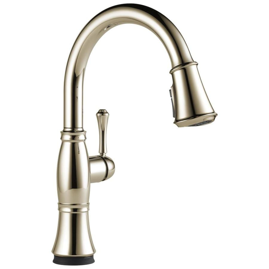 Delta Cassidy Polished Nickel 1-Handle Pull-Down Touch Kitchen Faucet