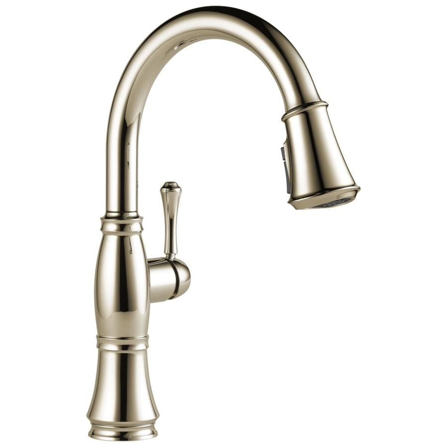 Delta Cassidy Polished Nickel 1-Handle Pull-Down Kitchen Faucet