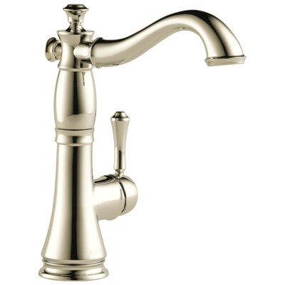 Cassidy Polished Nickel 1 Handle Deck Mount High Arc Residential Kitchen Faucet
