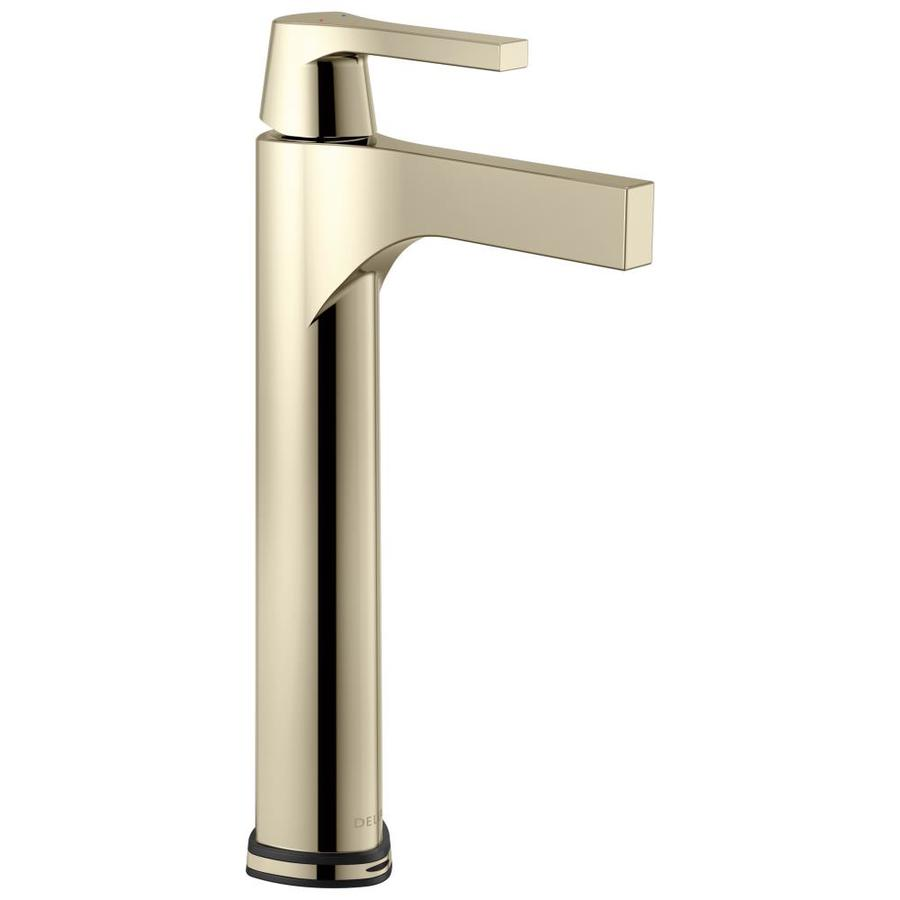 Shop Delta Zura Polished Nickel 1-Handle Vessel Bathroom Sink Faucet ...