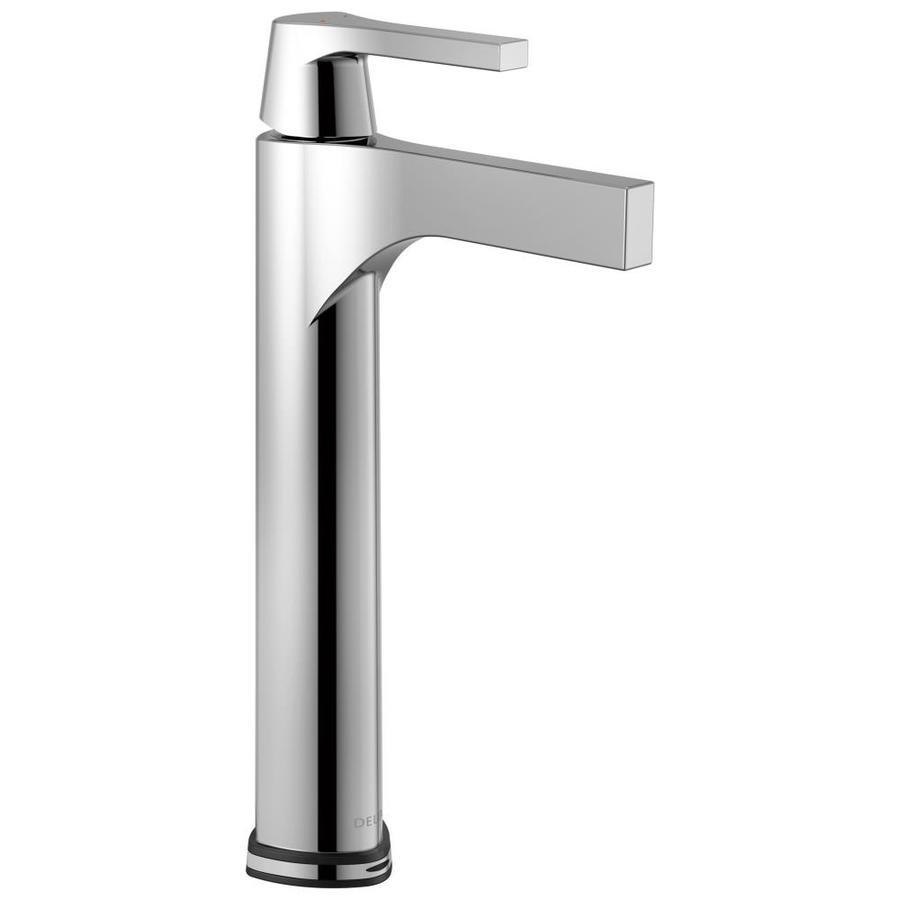 Shop Delta Zura Chrome 1-Handle Vessel WaterSense Bathroom Faucet at ...
