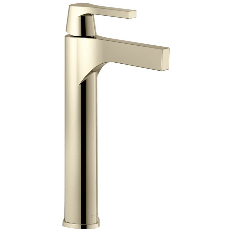 delta zura polished nickel 1 handle vessel watersense bathroom faucet