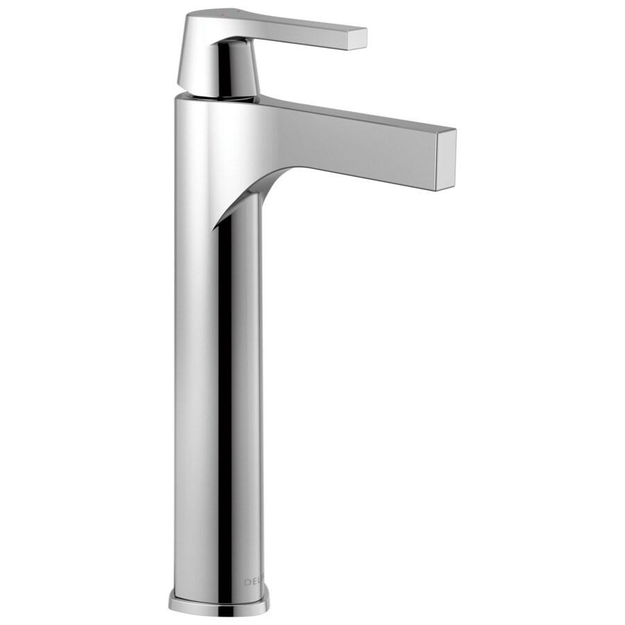 delta zura chrome 1 handle vessel watersense bathroom faucet at lowes