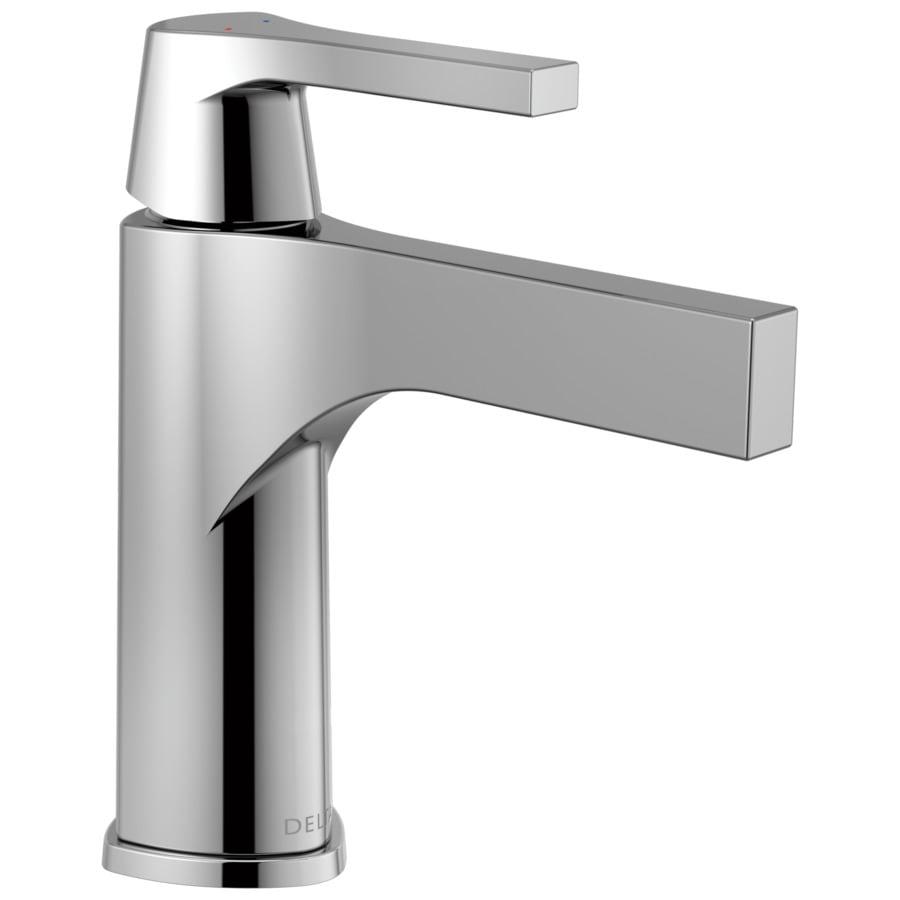 Delta Zura Chrome 1-Handle Single Hole/4-in Centerset WaterSense Bathroom Faucet (Drain Included)