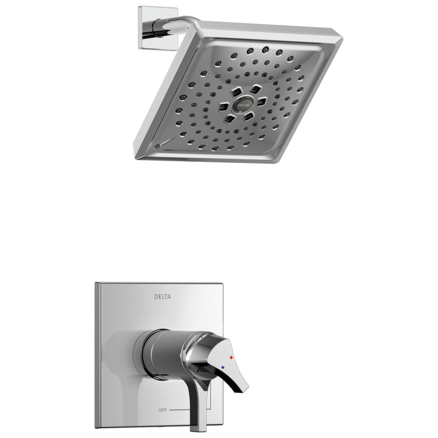 Delta Zura Chrome 1-Handle WaterSense Shower Faucet with Multi-Function Showerhead